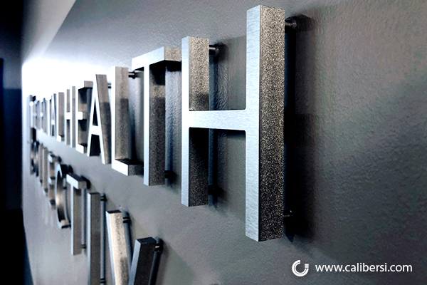 Brushed Aluminum Lobby Signs in Orange County CA