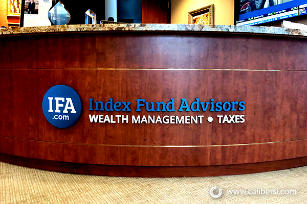 Interior Office Signs for Financial Firms in Irvine CA