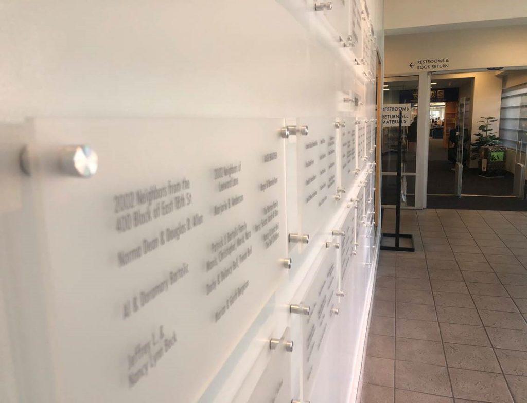 Acrylic Panel Donor Walls in Orange County CA