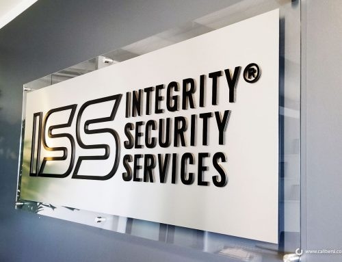Security Company Brands with 3D Letter Acrylic Lobby Sign in Irvine CA!