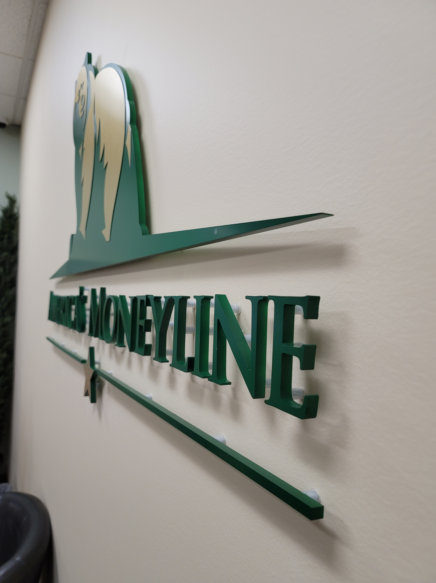 Stud-Mounted 3D Letter Lobby Signs in Irvine CA