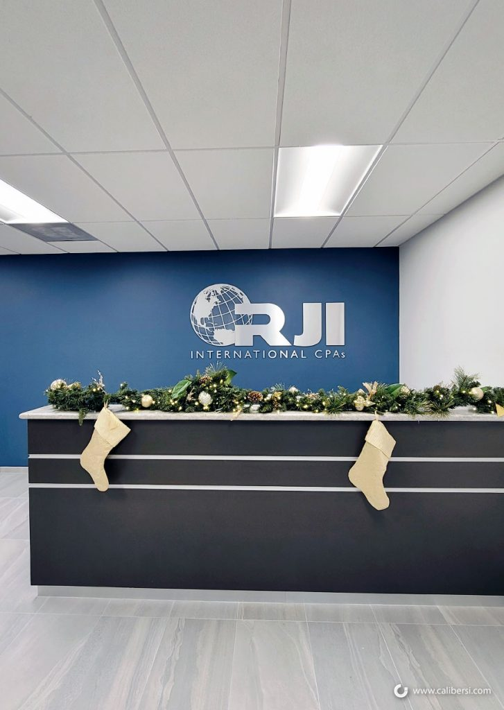 Brushed Metal Lobby Signs in Irvine CA