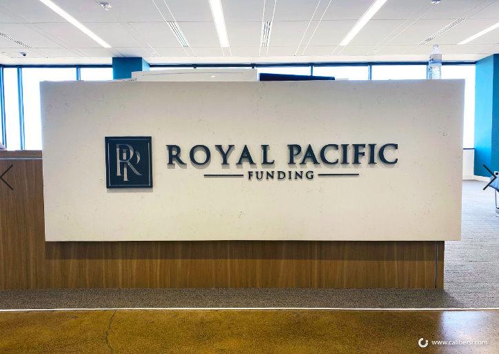 Reception Area Sign Ideas in Irvine CA